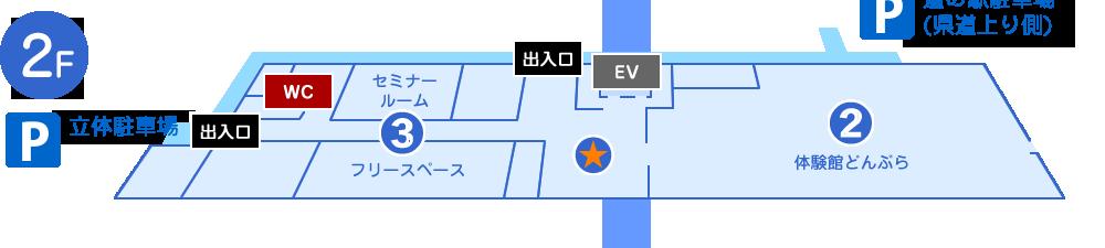 館内マップ 2F