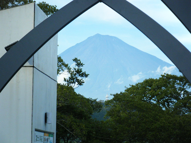 富士川楽座から眺める富士